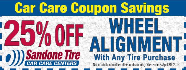 25% Off Wheel Alignment with Tire Purchase