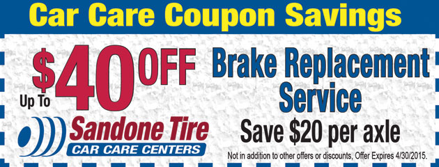 $40 Off Brake Replacement Service