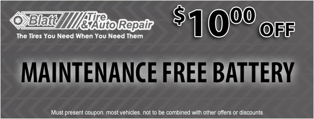 Maintenance Free Battery - $10 off