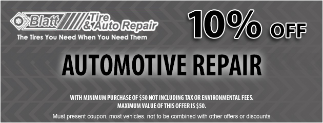10% off of Automotive Repair