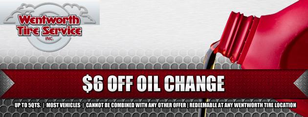 $6 OFF Oil Change