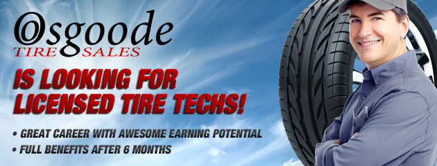 Looking for Licensed Tire Techs