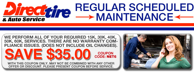 $35.00 Off Regular Schedule Maintenance