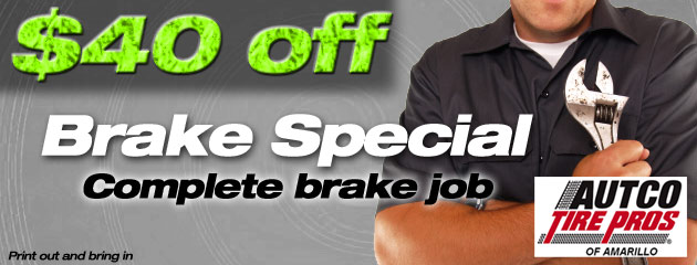 $40 off Brake Special
