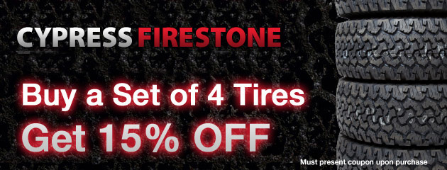 15% off 4 Tires Special