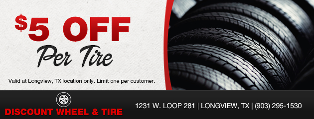 $5 off per tire