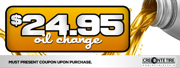 $24.95 Oil Change