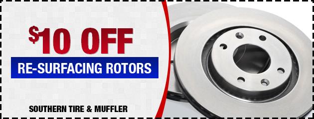 $10 OFF Re-Surfacing Rotors