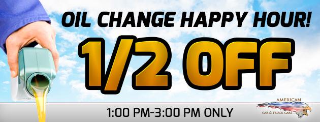 Happy Hour Oil Change