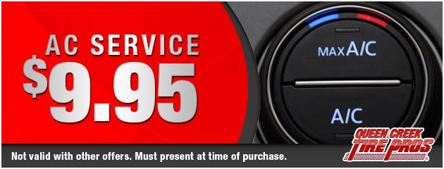 A/C Service: $9.95