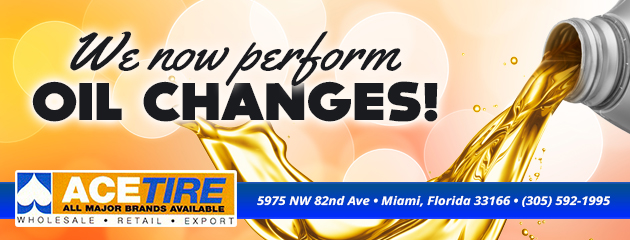 We now perform oil changes!