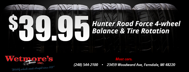 Hunter Road Force 4-wheel Balance & Tire Rotation