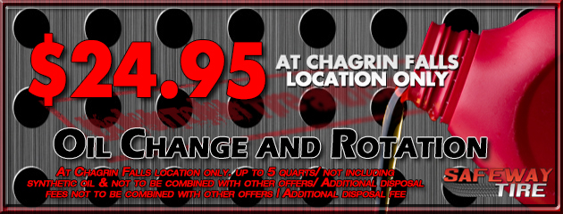 Chagrin Falls Location - Oil Change and Rotation for $24.95