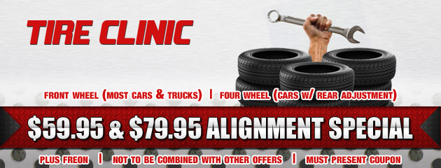 Tire Clinic Alignment Special
