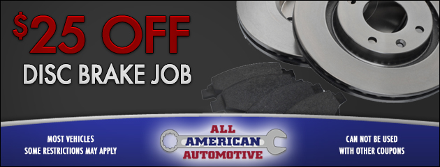 $25 Off Disc Brake Job