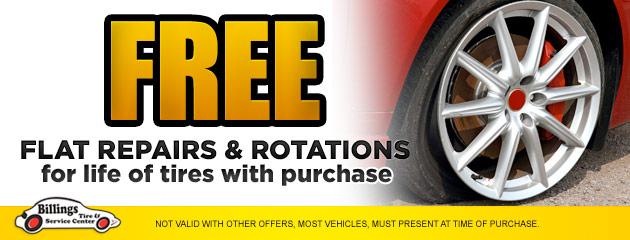 Free Flat Repairs & Rotations