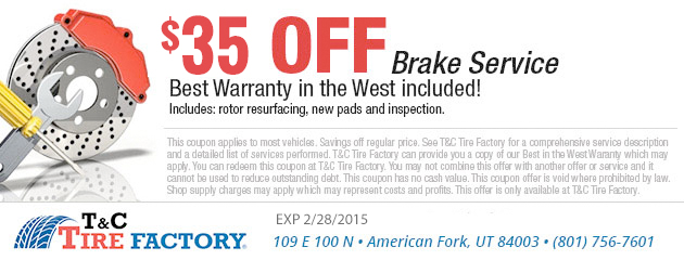 $35 Off Brake Service