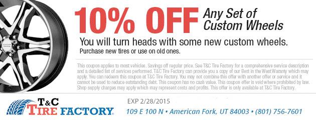 10% Off Custom Wheels