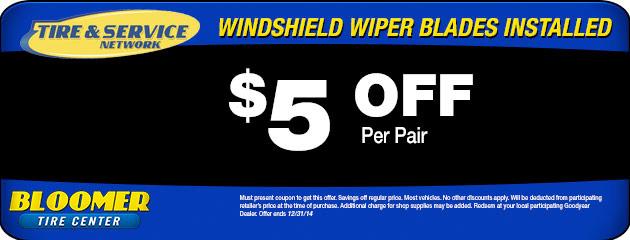$5 Off Wiper Blades