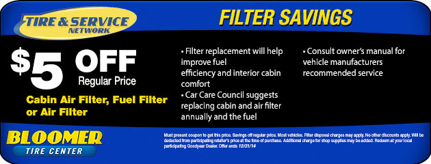 Filter Savings