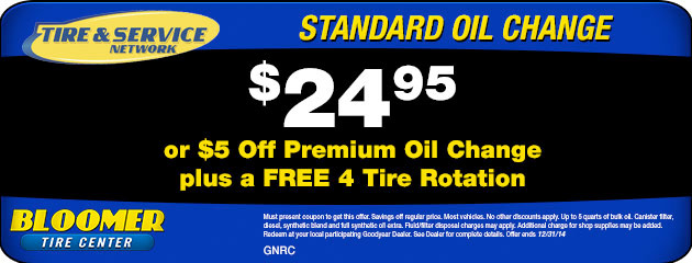 $24.95 Oil Change Special
