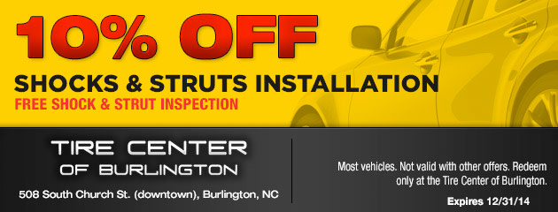 10% Off Shocks and Struts Installation
