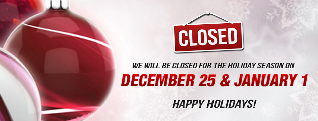 Christmas Holiday - Closed Dec 25 and Jan1 MB