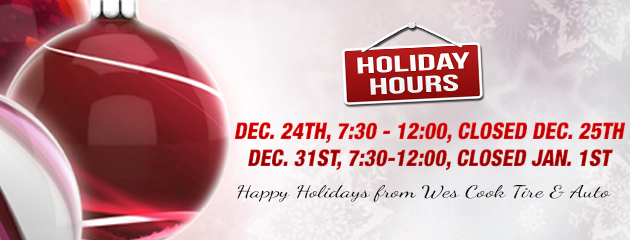 Holiday Hours - Closings