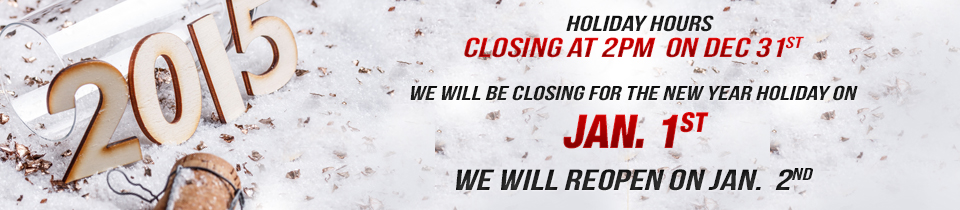 New Years Hours -  Closed