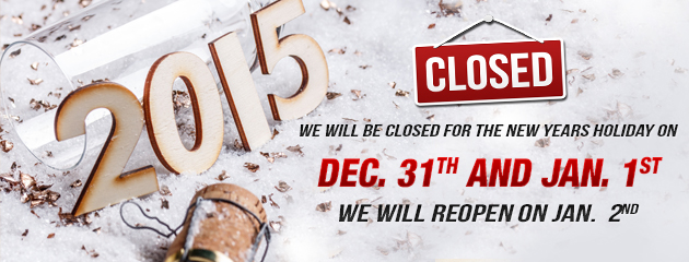 New Years Hours - Closed Dec 31- Jan1 MB