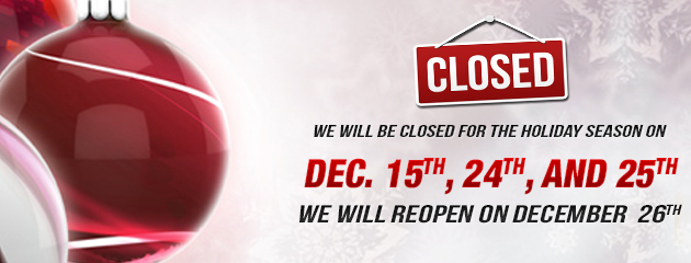 Christmas Holiday Hours - Closed