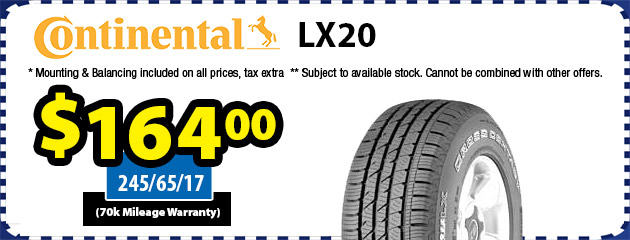 Continental LX20 Tires