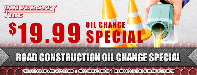 Road Construction Oil Change Special