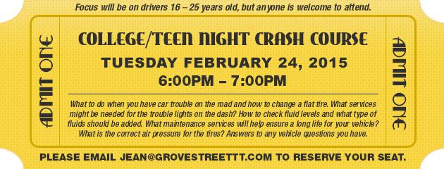 College/Teen Night Crash Course