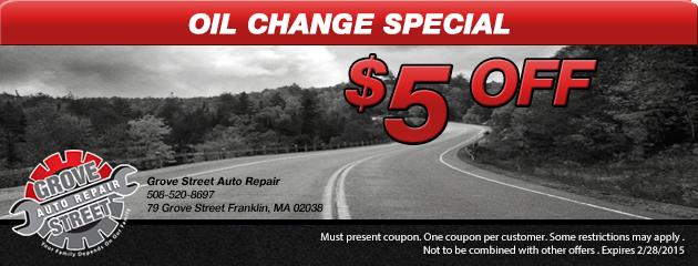 $5.00 Off Oil Change