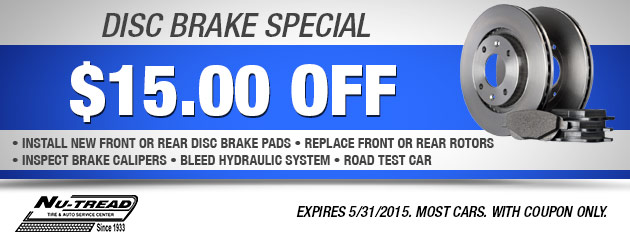 $15 Off Disc Brake Special