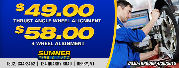 Thrust or 4 Wheel Alignment