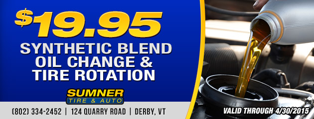 Sythetic Blend Oil Change & Tire Rotation