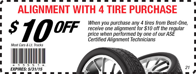 Alignment w/ purchase of 4 Tires