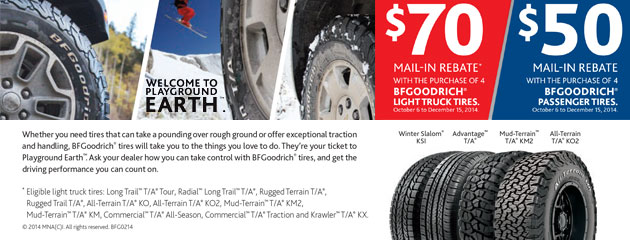 BFGoodrich up to $70 Rebate Canada