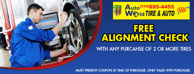 Free Alignment Check with Purchase of 2 Tires