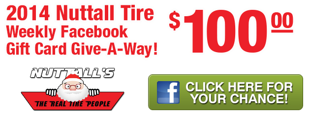 Nuttall Tire Weekly FB Giveaway