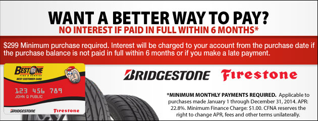 Best One Tire Bridgestone CFNA