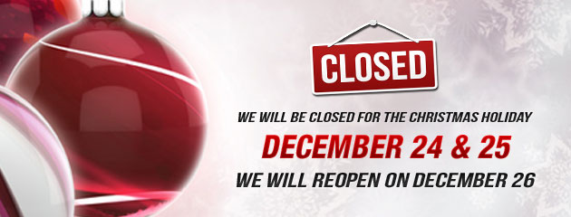 Holiday Hours Closed 24 and 25