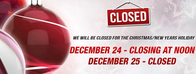 Closing at Noon Holiday Hours