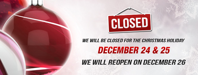 Holiday Hours closed WED THURS normal FRI