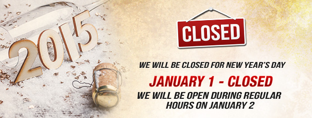 Holiday Hours Closed only NYDay