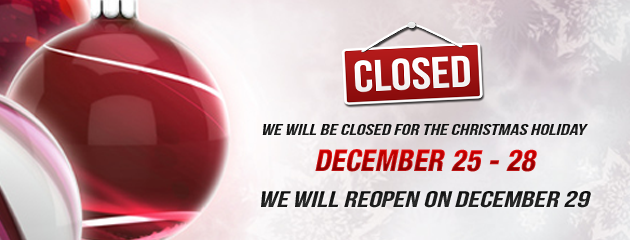 Closed 25-28 Holiday Hours