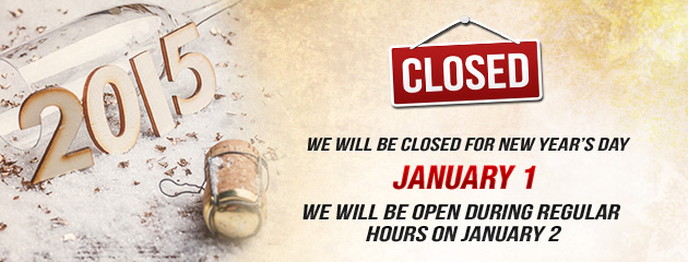 Holiday Hours Closed NYday