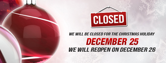Closed on Christmas Holiday Hours